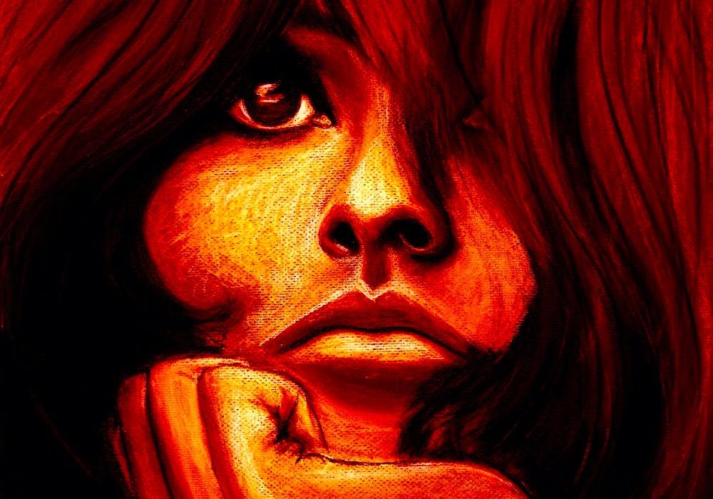 La Bella Pastel on paper digital fusion Tagged Image File 3900 x 4400