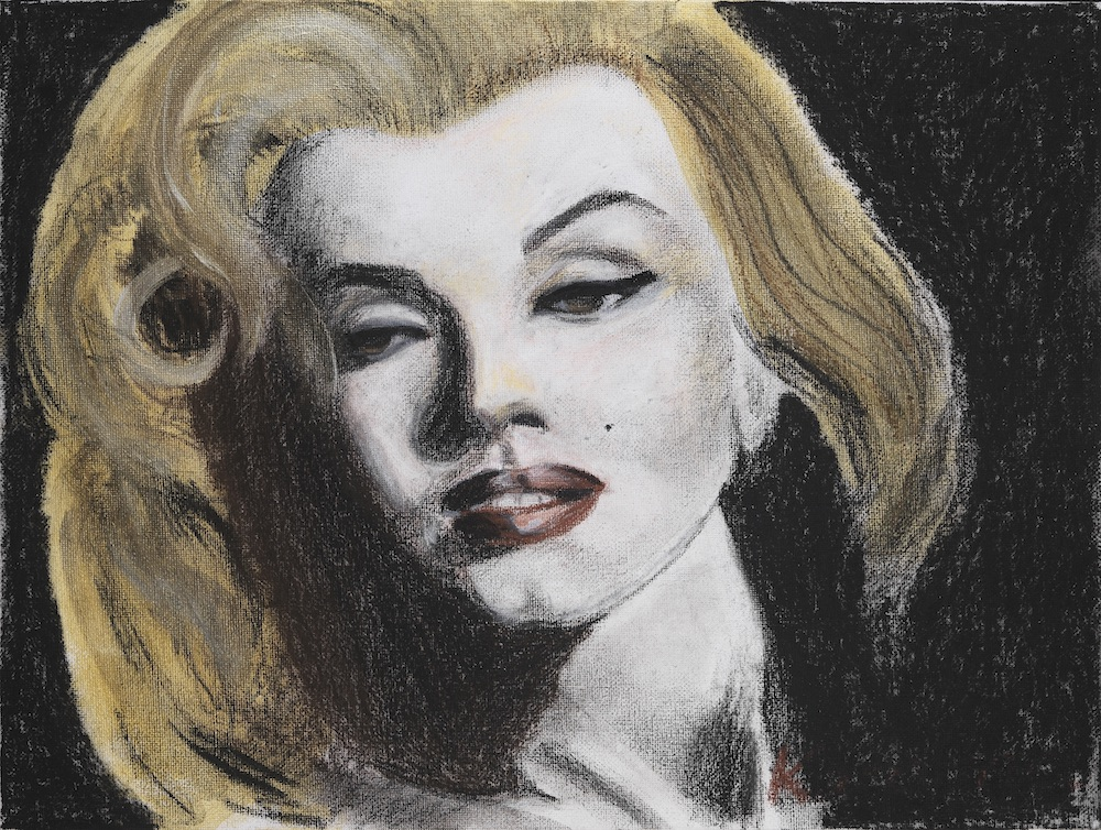 Marylin Acrylic and pastel on paper digital fusion Tagged Image File  4700 × 3500