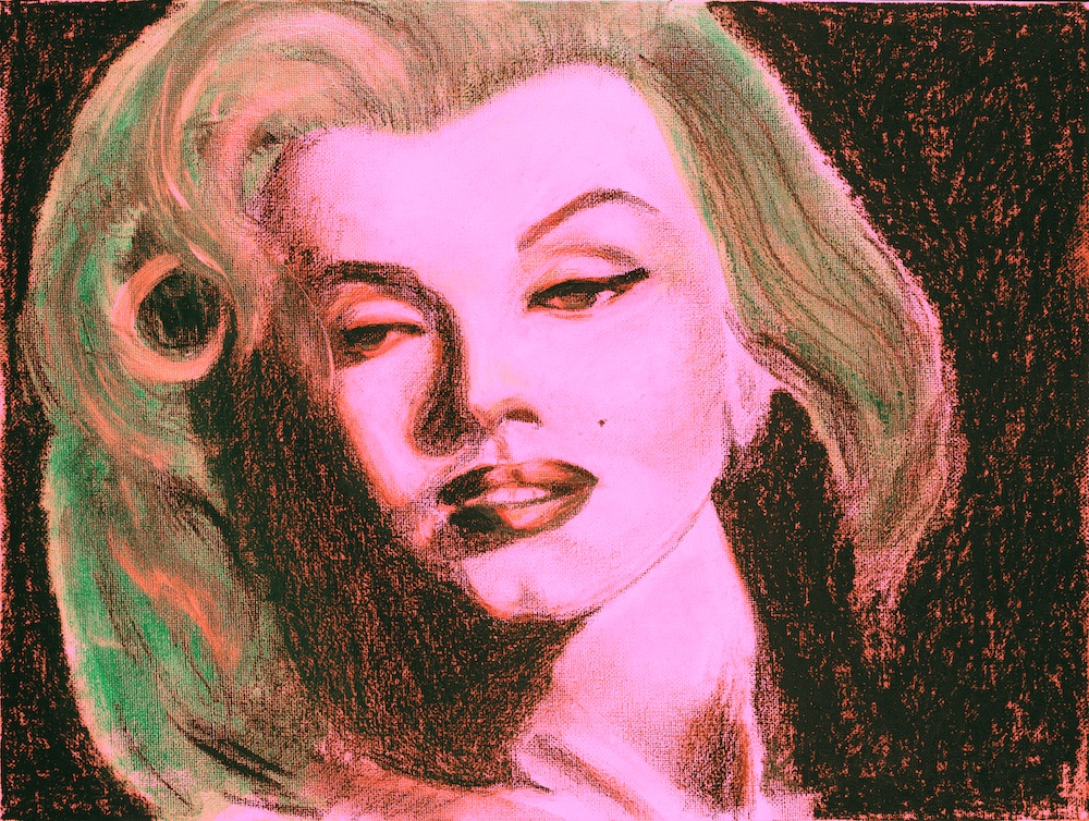 Marylin Acrylic and pastel on paper digital fusion Tagged Image File  4700×3500